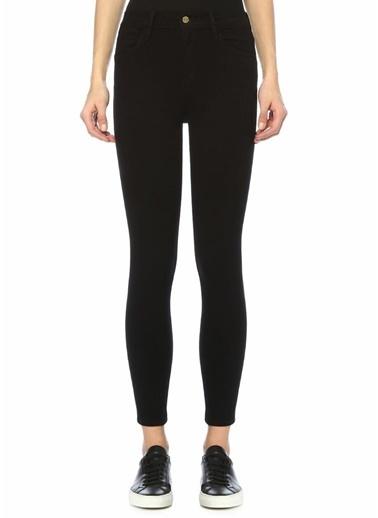 Frame Denim Yüksek Bel Skinny Jean Pantolon Siyah